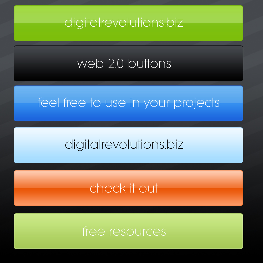 buttons Free Web 2.0 Buttons web revolutions pack free digital buttons 2.0 