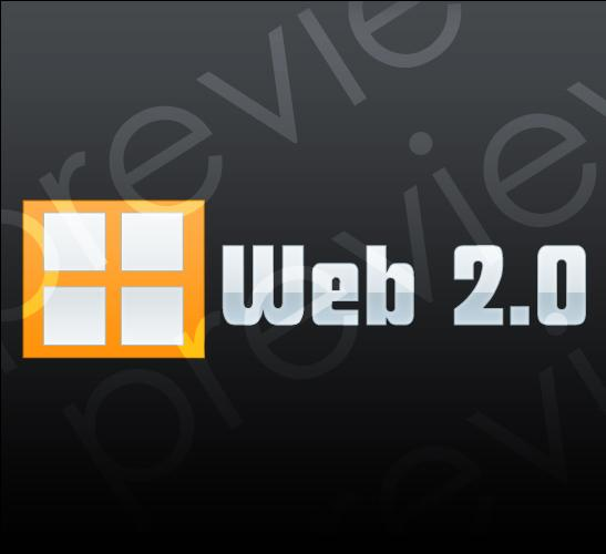 orange white web 2 prev1 Orange and White Web 2.0 Style Logo  white revolutions orange logo digital