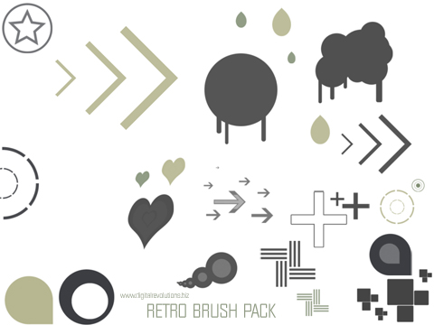 retrobrushpackprev Free Retro Photoshop Brush Pack revolutions retro photoshop free digital design brushes brush