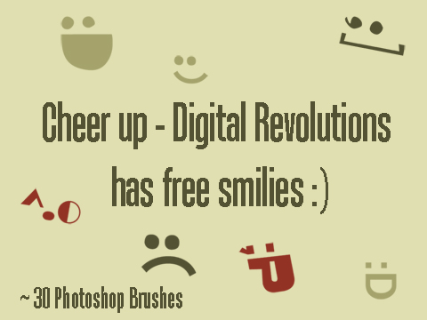 smilies prev Free Photoshop Brushes   Smilies smilies smile revolutions photoshop pack hi res emotion emoticon digital brushes
