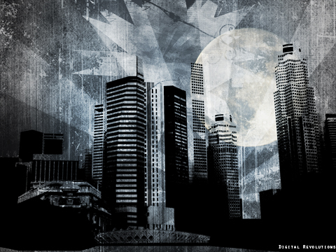 big city prev Big City   Free Abstract Wallpaper widescreen wallpaper revolutions grunge digital city big abstract
