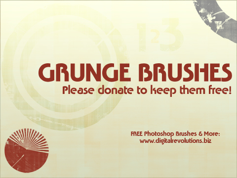 grungebrushes prev Free Photoshop Brushes   Grunge revolutions photoshop free digital brushes