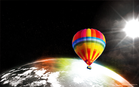 ballon prev Soar Above   Widescreen Desktop Wallpaper widescreen wallpaper space soar revolutions hot digital ballon air above