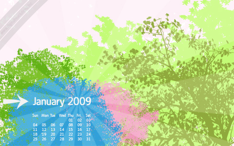 january 2009 cal prev January 2009 Calendar Wallpaper  widescreen wallpaper revolutions january free digital desktop calendar 2009 