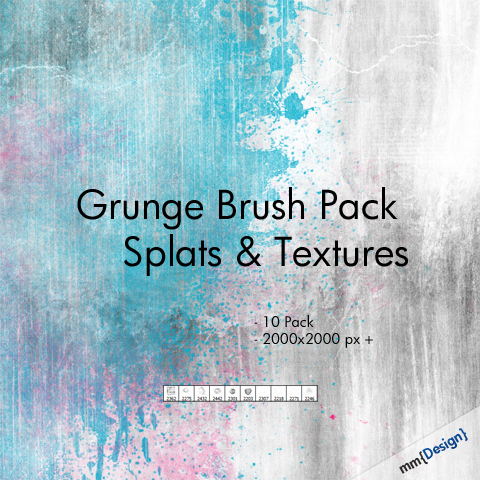 g b p prev Grunge Splats and Textures   Free Photoshop Brush Pack texture splat pack high resolution grunge free download brush