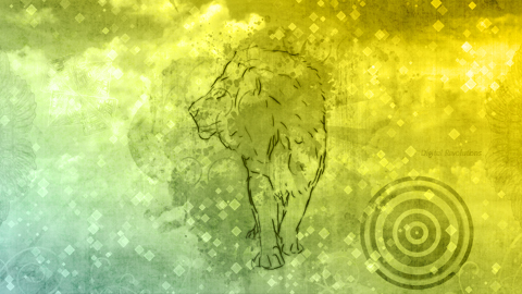 lion sm Lion   Abstract Wallpaper yellow wallpaper lion hd green free blue abstract